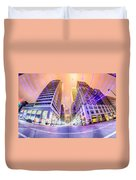Tulsa City Skyline Around Downtown Streets Duvet Cover