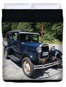 Vintage Cars Duvet Cover