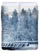 Winter White Forest Duvet Cover