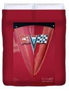 63 Corvette Emblem Duvet Cover