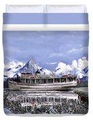 Alaska Yachting Duvet Cover