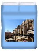 Views Of Taormina Sicily Duvet Cover