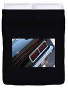 67 Black Camaro Ss Tail Light-8020 Duvet Cover