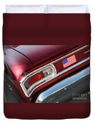 67 Malibu Chevelle Tail Light-0060 Duvet Cover