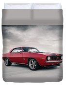 69 Camaro Duvet Cover