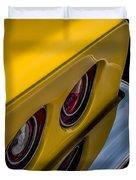 '69 Corvette Tail Lights Duvet Cover
