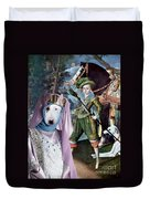 Bull Terrier Art Canvas Print Duvet Cover