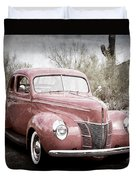 1940 Ford Deluxe Coupe Duvet Cover