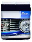1969 Chevrolet Camaro Z-28 Grille Emblem Duvet Cover