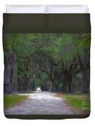 Allee Of Live Oak Tree's Duvet Cover