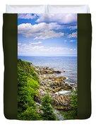 Atlantic Coast In Newfoundland Duvet Cover