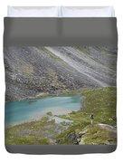 Backpacking In Alaska Talkeetna Duvet Cover