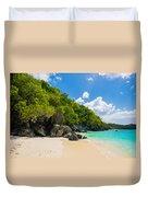 Beautiful Caribbean Beach Duvet Cover