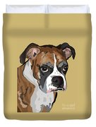 Boxer Dog Portrait Duvet Cover by Robyn Saunders