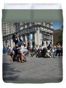 Breakdancers Duvet Cover