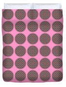 7 By 7 On Pink Duvet Cover