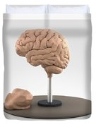 Clay Model Of Brain Duvet Cover