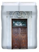 Distinctive Doors In Madrid Spain Duvet Cover