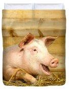 A Domestic Pig Duvet Cover by Hans Reinhard