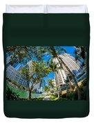 Downtown Miami Brickell Fisheye Duvet Cover