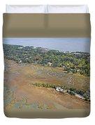 East Coast Aerial Near Jekyll Island Duvet Cover