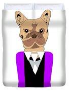 French Bulldog Painting Duvet Cover