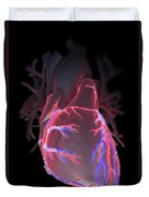Human Heart Duvet Cover