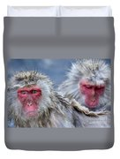 Japanese Macaques Duvet Cover