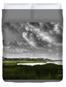 Southern Tall Marsh Grass Duvet Cover