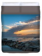 Sc Lowcountry Sunset Duvet Cover