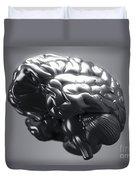 Metallic Brain Duvet Cover