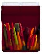 Multi Colored Paint Brushes Duvet Cover