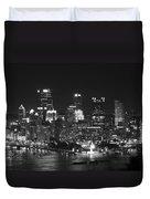 Pittsburgh Skyline At Night Duvet Cover