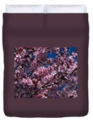 Plum Tree Flowers Duvet Cover