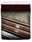 1969 Pontiac Gto Taillight Emblem -0475a Duvet Cover
