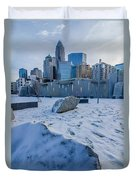 Rare Winter Scenery Around Charlotte North Carolina Duvet Cover