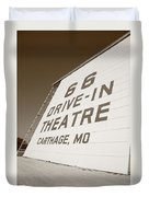 Route 66 Drive-in Theatre Duvet Cover