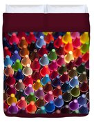 Rows Of Multicolored Crayons  Duvet Cover