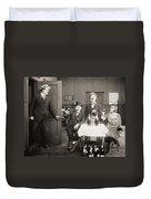 Silent Film Still: Drinking Duvet Cover