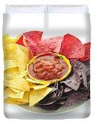 Tortilla Chips And Salsa Duvet Cover
