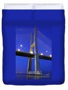 Vasco Da Gama Bridge In Lisbon Duvet Cover