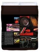 '70 Mustang Options Duvet Cover