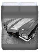 71 Camaro Z28 In Black And White Duvet Cover