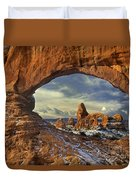 714000087 Turret Arch Arches National Park Duvet Cover