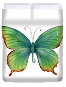 74 Green Flame Tip Butterfly Duvet Cover by Amy Kirkpatrick