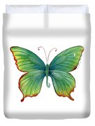 74 Green Flame Tip Butterfly Duvet Cover