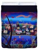 75th Anniversary Of Palm Beach, Florida Oil On Canvas Duvet Cover