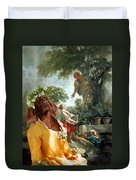 Irish Setter Art Canvas Print Duvet Cover