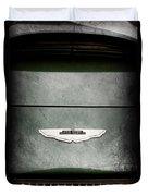 1959 Aston Martin Db4 Gt Hood Emblem Duvet Cover