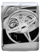 1959 Devin Ss Steering Wheel Duvet Cover